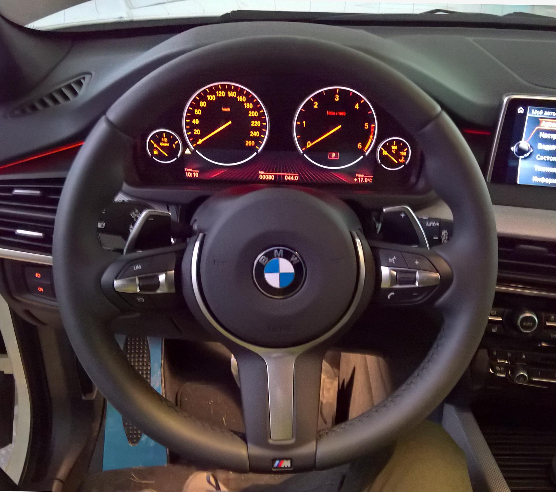 Дооснащение BMW X5 F15 спортивным рулем М
