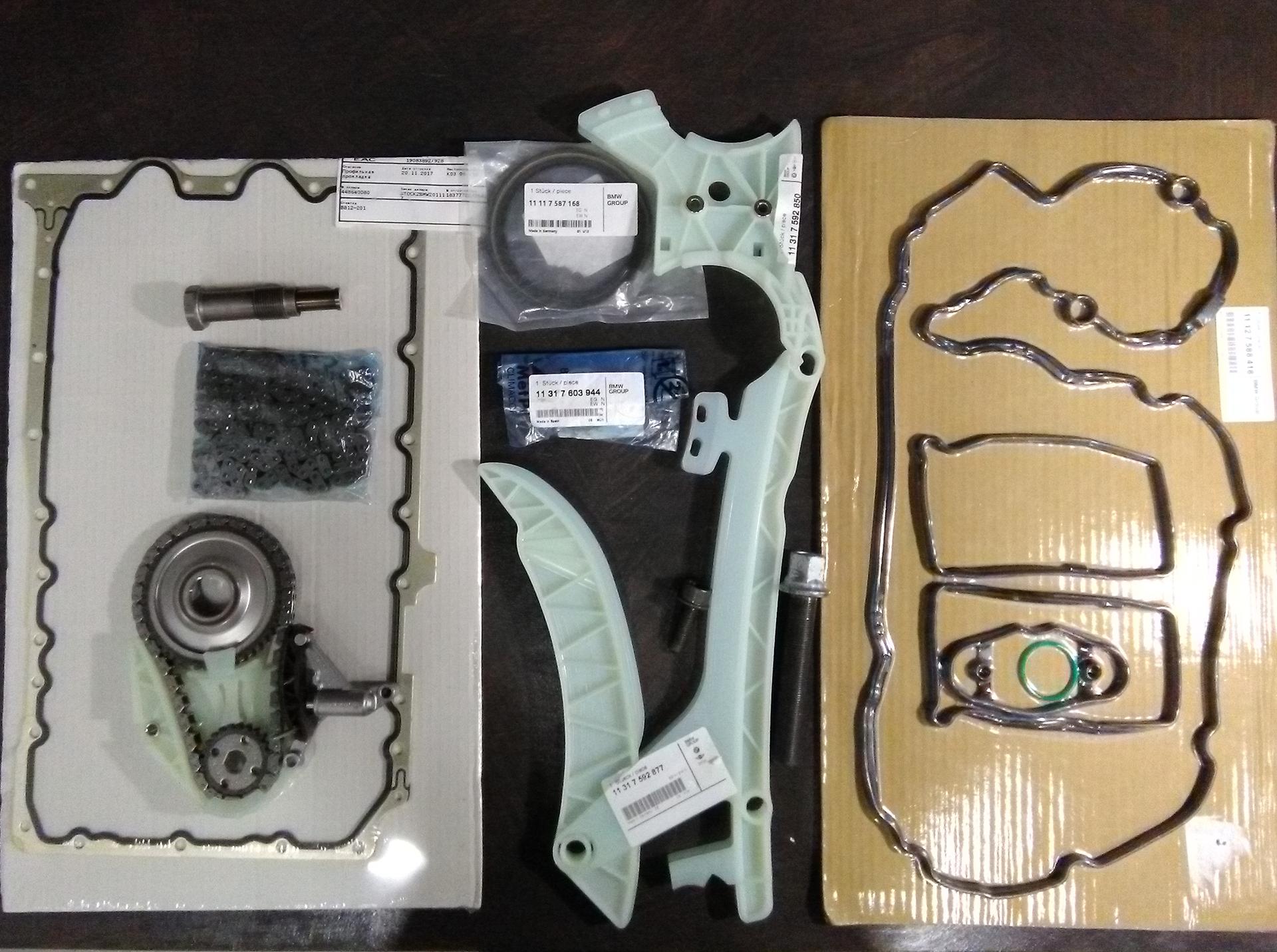 Замена цепи ГРМ на BMW F30 320i с двигателем N20