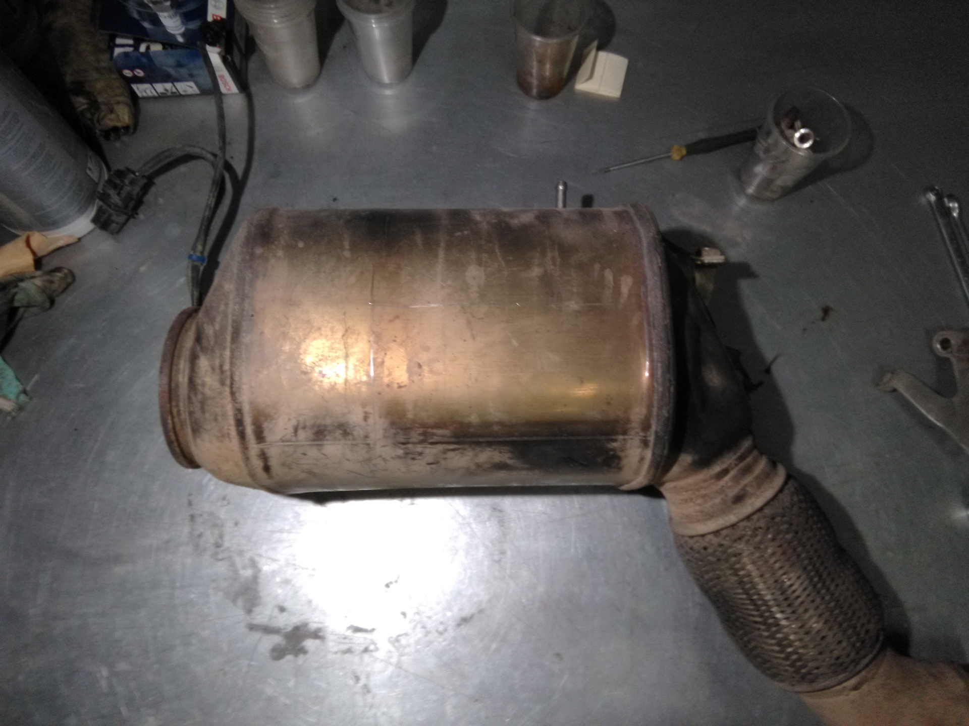Удаление сажевого фильтра на BMW X5