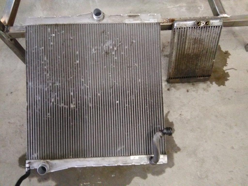 Промывка радиаторов со снятием