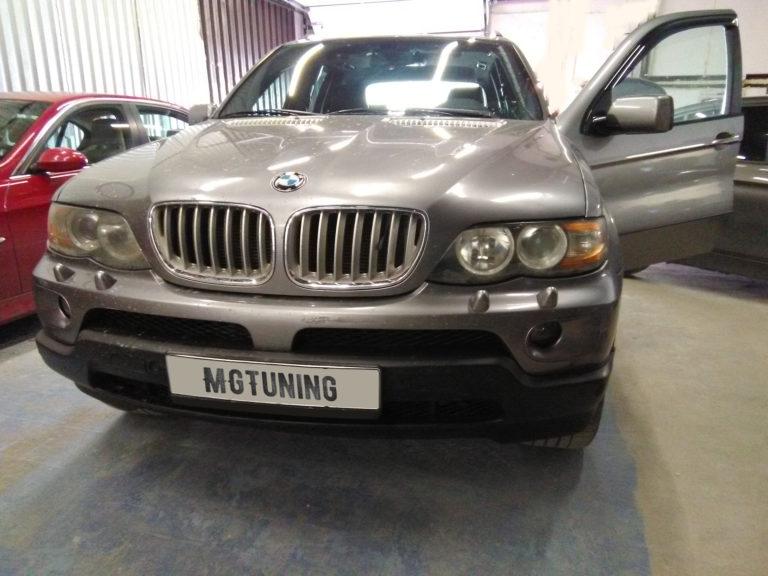 Удаление катализаторов и прошивка Евро2 на BMW X5 4.8i с двигателем N62