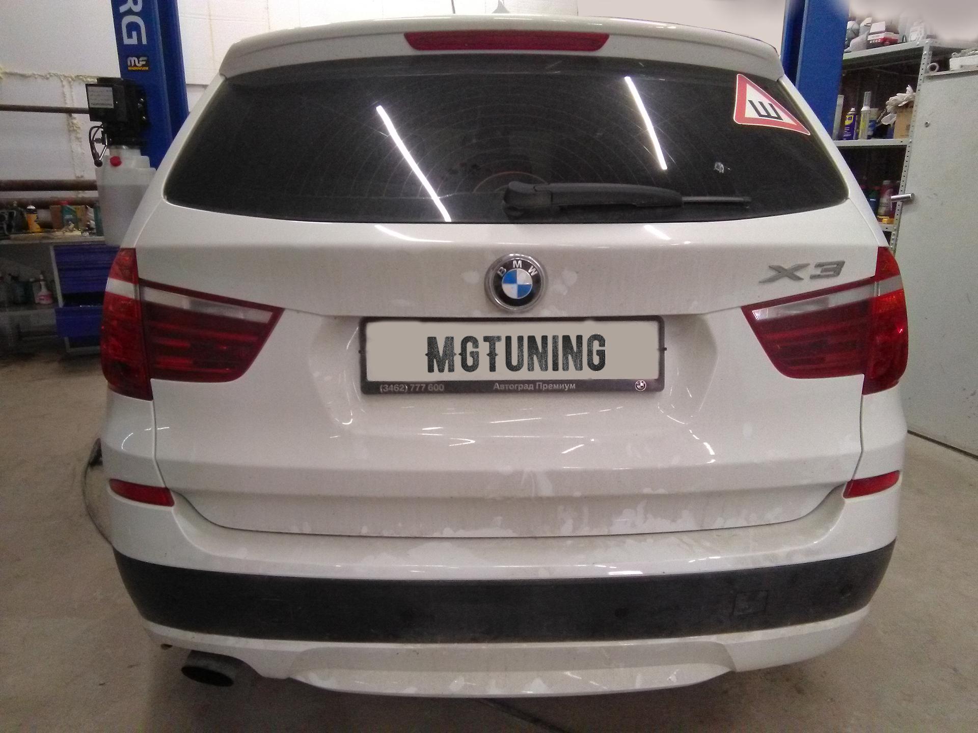 Установка датчиков парковки на BMW X3 F25