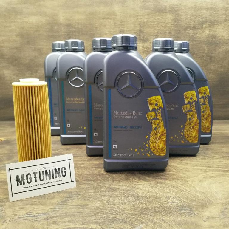 замены масла в двигателе Mercedes-Benz